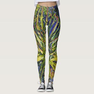 Stylized Mosaic Aloe Leggings