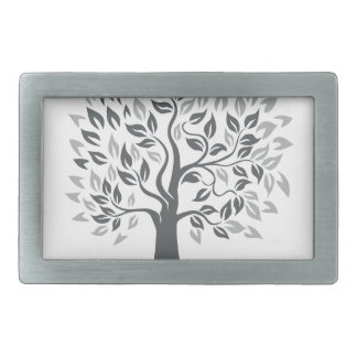 Stylized Oak Tree with Roots Retro Belt Buckles
