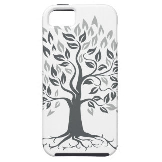 Stylized Oak Tree with Roots Retro Case For The iPhone 5