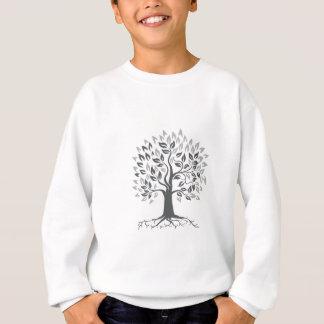 Stylized Oak Tree with Roots Retro Sweatshirt