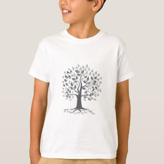 Stylized Oak Tree with Roots Retro T-Shirt