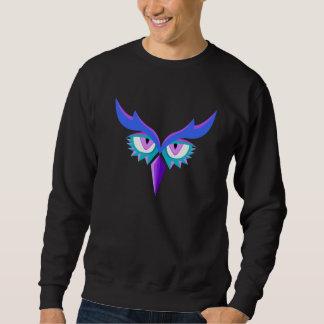 Stylized Owl Design Sweater