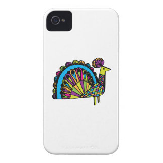 Stylized Peacock iPhone 4 Covers