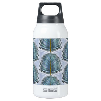 Stylized Peacock Feather - blue Insulated Water Bottle