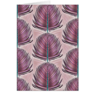 Stylized Peacock Feather - pink Card