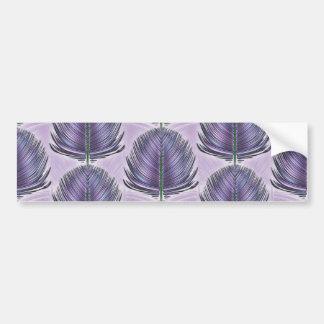 Stylized Peacock Feather - purple Bumper Sticker