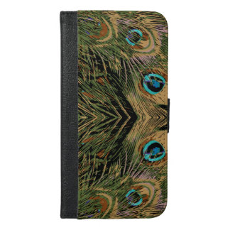Stylized Peacock Feathers iPhone 6/6s Plus Wallet Case