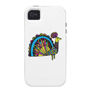 Stylized Peacock iPhone 4 Case