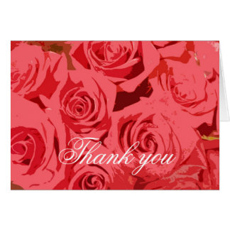 Stylized Pink Roses Card