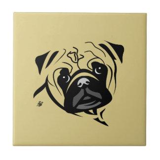 Stylized Pug Art Tiles