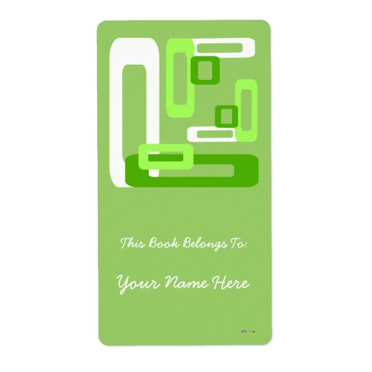Stylized Rectangles Green/White