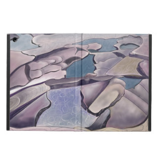 Stylized rockplatform and tidal pool iPad air cover