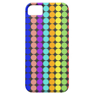 Stylized round flowers (white background) iPhone 5 cover