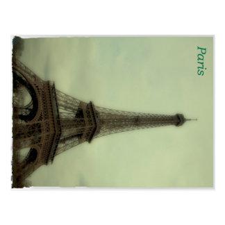 Stylized shot of Eiffel Tower in Paris Postcard