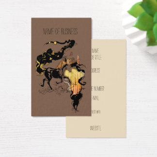 Stylized Silhouette Horse Business Card