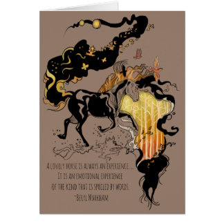 Stylized Silhouette Horse with Quote Card