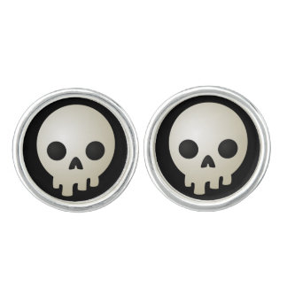 Stylized Skulls Cuff Links