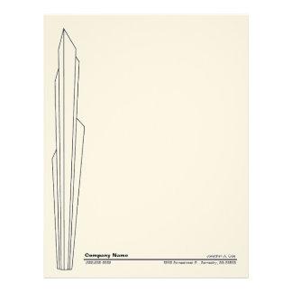 Stylized Skyscraper Design Custom Letterhead