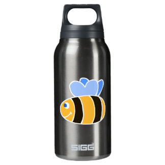 Stylized Smiling Cartoon Bumble Bee/Bumblebee Insulated Water Bottle
