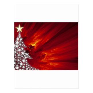 Stylized Star Christmas Tree Postcard