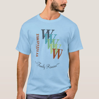 Stylized Text Family Reunion Clan Gathering Custom T-Shirt
