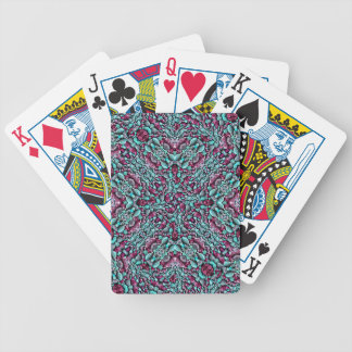 Stylized Texture Pattern Mosaic Bicycle Playing Cards