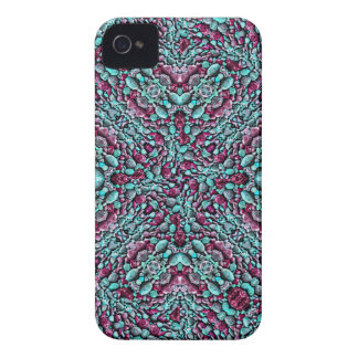Stylized Texture Pattern Mosaic iPhone 4 Cases