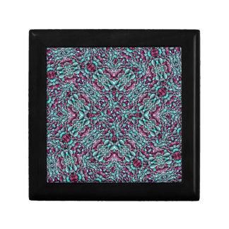 Stylized Texture Pattern Mosaic Jewelry Box