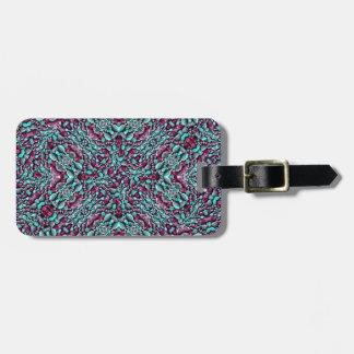 Stylized Texture Pattern Mosaic Luggage Tag
