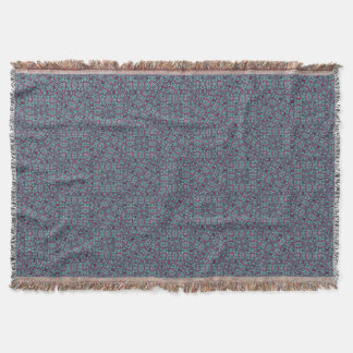 Stylized Texture Pattern Mosaic Throw Blanket