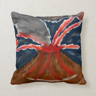 Stylized Volcano Throw Pillow