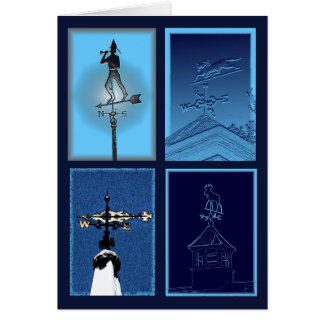Stylized Weathervanes Notecard