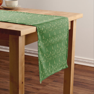 Stylized Wheat and Sun Let Us Give Thanks! Short Table Runner