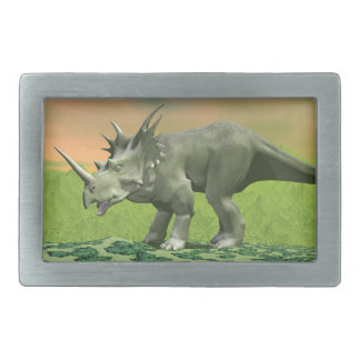 Styracosaurus dinosaur - 3D render Belt Buckles