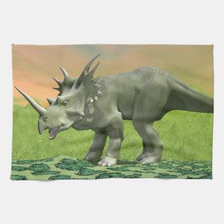 Styracosaurus dinosaur - 3D render Kitchen Towel