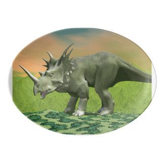 Styracosaurus dinosaur - 3D render Porcelain Serving Platter