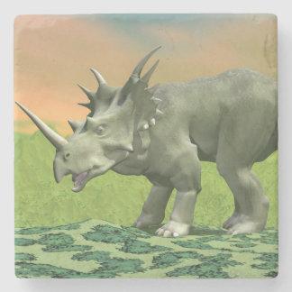 Styracosaurus dinosaur - 3D render Stone Coaster