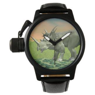 Styracosaurus dinosaur - 3D render Wristwatches