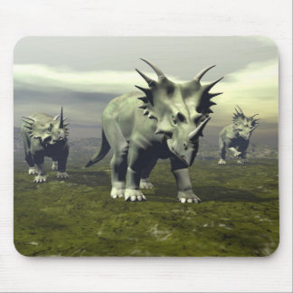 Styracosaurus dinosaurs - 3D render Mouse Pad