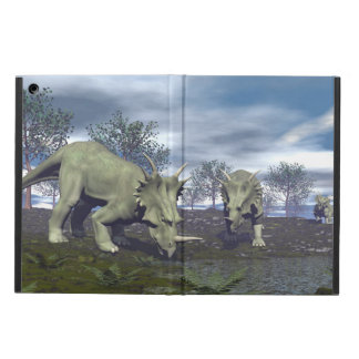 Styracosaurus dinosaurs going to water - 3D render Case For iPad Air