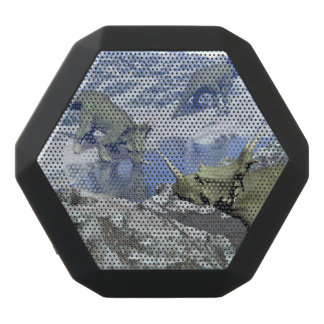 Styracosaurus near water- 3D render Black Bluetooth Speaker