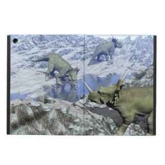 Styracosaurus near water- 3D render Cover For iPad Air