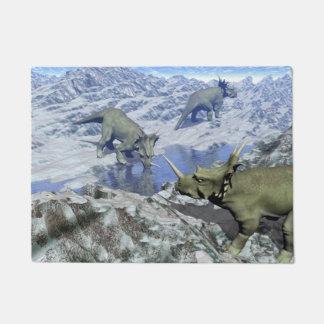 Styracosaurus near water- 3D render Doormat