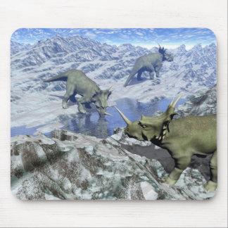 Styracosaurus near water- 3D render Mouse Pad