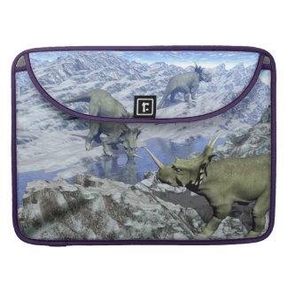 Styracosaurus near water- 3D render Sleeve For MacBook Pro