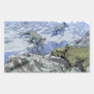 Styracosaurus near water- 3D render Sticker