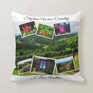Styrian Wine Country - I Love Austria Throw Pillow