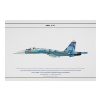 Su-27 Russia 3 Poster
