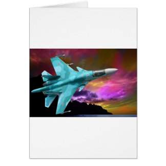 SU-30 RUSSIAN FIGHTER JET GREETING CARD