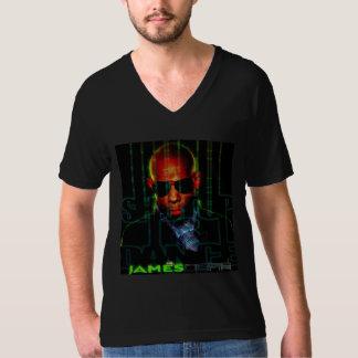 SU&D Mens Blk V-Neck T-Shirt